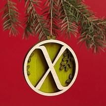 Enesco Flourish Letter X Monogramed Ornament, 3.2-Inch
