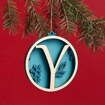 Enesco Flourish Letter Y Monogramed Ornament, 3.2-Inch
