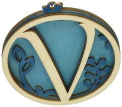 Enesco Flourish Letter V Monogramed Ornament, 3.2-Inch