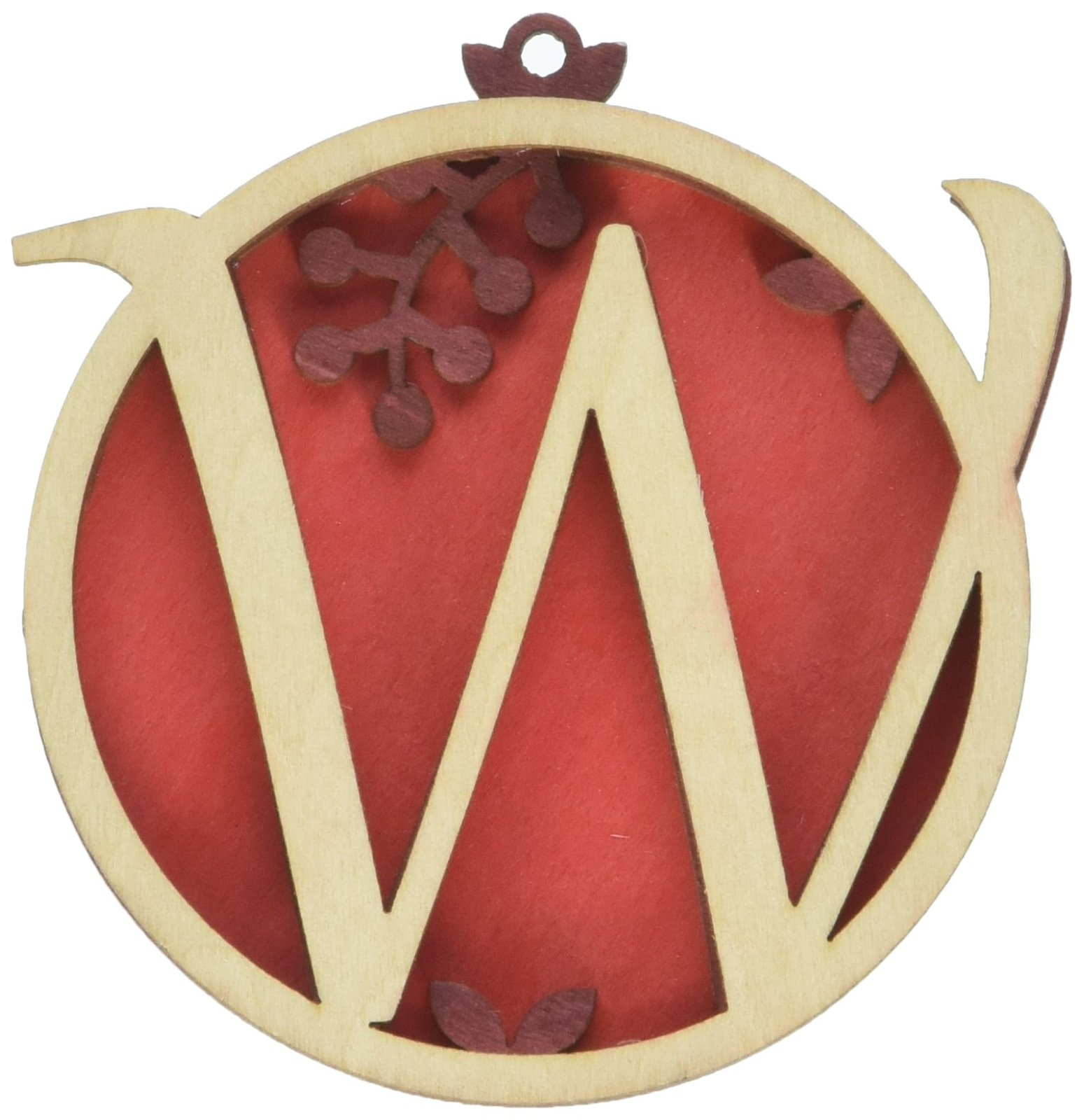 Enesco Flourish Letter W Monogramed Ornament, 3.2-Inch