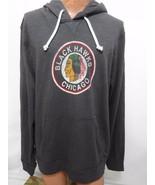 Chicago Blackhawks Mens XL Hockey 47 Brand Gray Cotton Hoodie NEW Vintag... - $92.61
