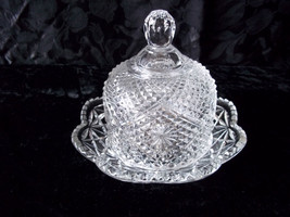 Twinkling Sawtooth & Diamond Point Domed Butter... - $14.99