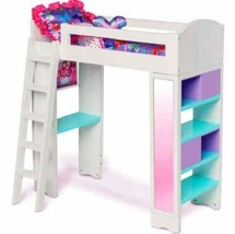 Princess Doll Bed Girl Furniture Shelves and Cu... - $52.11