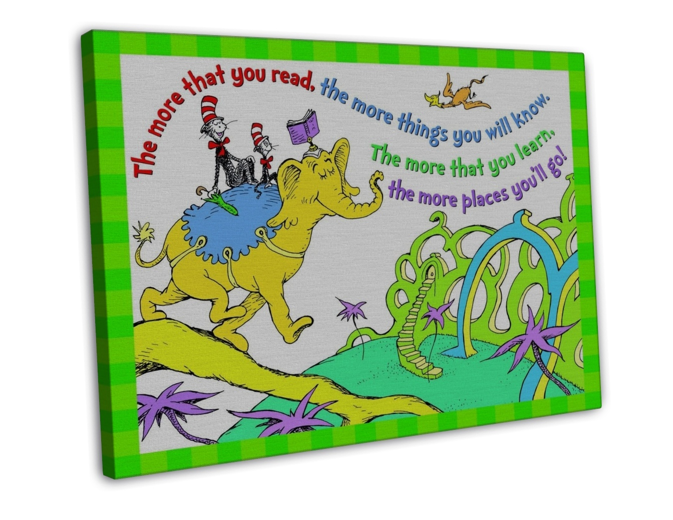 eureka dr seuss the more you read wall decor 20x16 framed. Black Bedroom Furniture Sets. Home Design Ideas