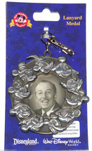 Walt Disney and Mickey Mouse Lanyard Metal Theme Parks New - $24.95