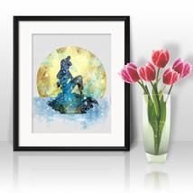 Little Mermaid Ariel Disney Print Printable Watercolor Art poster Wall D... - $1.75