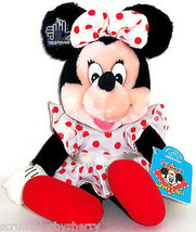 Disney Minnie Mouse Plush Toy applause White Dress with Red Polka Dots - $14.97