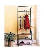 Coat Rack Shoe Rack Entryway Bench Mud Room Hat Rack Umbrella Rack Hallw... - $64.98