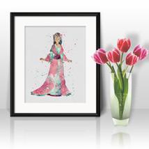 Princess Mulan Nursery Disney Print Printable Watercolor Art poster Wall... - $1.75