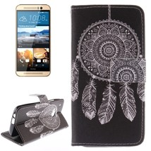For HTC One M9 WindBell 2 Pattern Leather Case with Holder, Card Slots & Wallet - $8.59