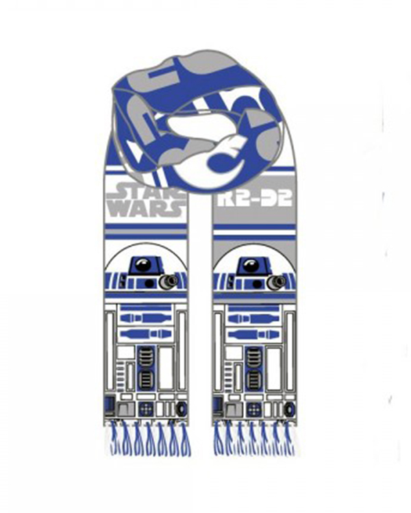 Star Wars R2D2 Knit Scarf, used for sale  USA