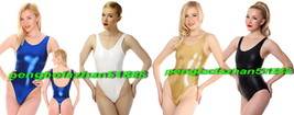 New 12COLOR Shiny Metallic Short Body Suit Sexy Catsuit Costumes No Sleeves S694 - $32.99