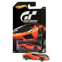 NW Hot Wheels Die Cast Car PS Gran Turismo Orange LAMBORGHINI AVENTADOR ... - €12,79 EUR
