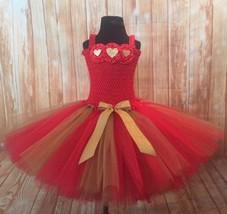 Valentines Day Tutu Dress Red and Gold, Valentines Tutu, Girls Valentine... - $40.00+