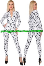 WHITE/BLACK Lycra Spandex Body Suit Sexy Front Zip Catsuit Costumes Unisex S703 - $32.99