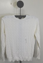 Club Room Winter Ivory Men's Cable Knit Crewneck Sweater - XL - €17,09 EUR