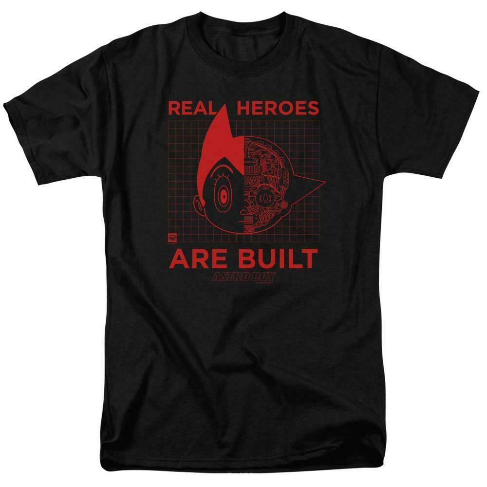 Astro Boy t-shirt Real Heros retro 80s TV cartoon graphic cotton tee ABOY111