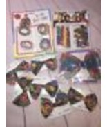 Vintage Ponytail BOWS Hair Barrettes Girls Color Mates In Package 1990's... - $56.09