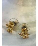 Vintage Small Goldtone Love Birds Post Earrings for Pierced Ears – 3/8th... - $9.49