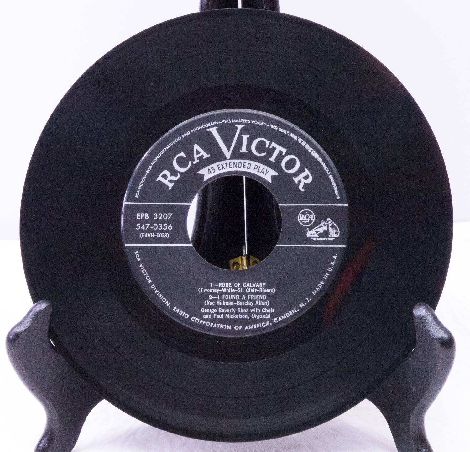 RCA Victor EP 45 RPM Record, George Beverly Shea - Play-Rated Very Good!