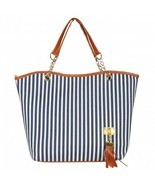 1 x Women's Street Snap Candid Tote Shoulder Handbag - Blue - $12.96