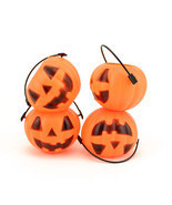 Small Mini Plastic Jack O Lantern Pumpkin Halloween Party Favor Candy Bu... - £3.71 GBP+