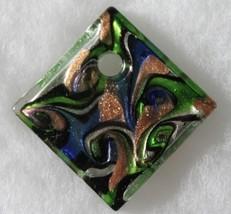 Murano Glass Swirl Diamond Pendant - $19.99