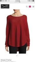 Eileen Fisher Boatneck Woolen Pullover USA Red - $96.00