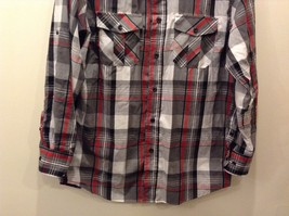 Beverly Hills Polo Club Plaid Long Sleeve Button Up Collared Shirt Size M image 6
