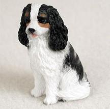 CAVALIER (black white) TINY ONES DOG Figurine Statue Pet Lovers Gift Resin - $8.99