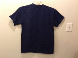 Fruit of the Loom 100% Cotton Navy Blue Holiday Graphic T-Shirt image 4