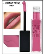 3 X Maybelline Color Sensational Vivid Matte Liquid Lipstick TWISTED TUL... - $13.95