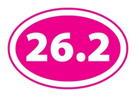 26.2 Inverted Pink Marathon Oval Car/Fridge Magnet - 4in X 6in Oval Heav... - $5.99