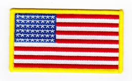 American Flag 2x4 Sew On Iron Patch Embroidered Usa Motorcycle Biker Jacket Vest - $2.99