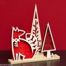 Laser Wood Centerpiece Flourish Woodlands Red Fox Centerpiece