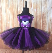 Evil Minion Tutu Dress, Minion Tutu, Minion Costume, Girls Minion Dress - $40.00+