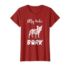 Dog Fashion - My Kids BARK Bulldog Dog Mom Silhouette Shirts Wowen - $19.95+