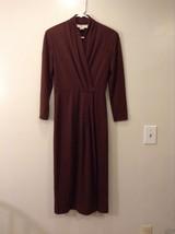 Ladies Jones New York Long Brown Wool Dress Sz 4