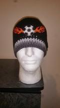 Soccer Flames Handmade Crochet Beanie - $20.00