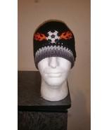 Soccer Flames Handmade Crochet Beanie - $18.00