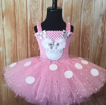 Minnie Personalized Tutu Dress, Minnie Mouse Tutu, Girls Minnie Dress - $40.00+