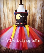 PacMan Tutu Dress, PacMan Party, 80s Tutu, Video Game Dress, PacMan Tutu - $40.00+
