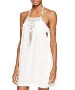 NEW L*space L* Kokomo Halter Dress Swim Cover Up Ivory M Medium $110 - $59.39
