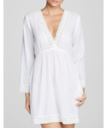 NEW Ralph lauren Lauren Lace Trim Crushed Cotton Chelsea Tunic Swim Cove... - $39.59
