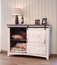White Eliza Sliding Barn Door Entry Table Console - $866.25