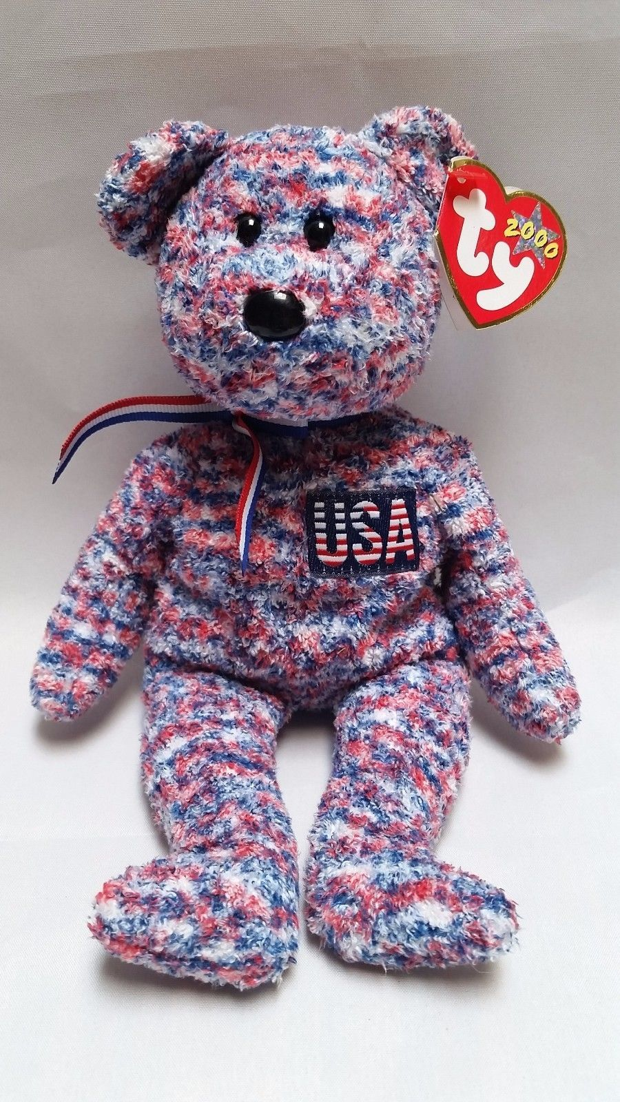 fdd6f990ced S l1600. S l1600. Previous. Ty Beanie Baby USA Bear Babies Patriotic  Retired Stuffed Animal Plush ...
