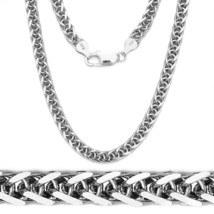1.7mm .925 Italy Sterling Silver Round Wheat Link Rope Chain Necklace Italian - $38.29+