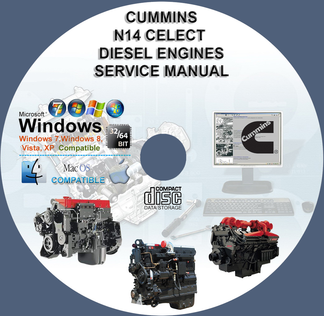 CUMMINS DIESEL ENGINES CELECT N14 SERVICE REPAIR MANUAL ON DVD - $10.00
