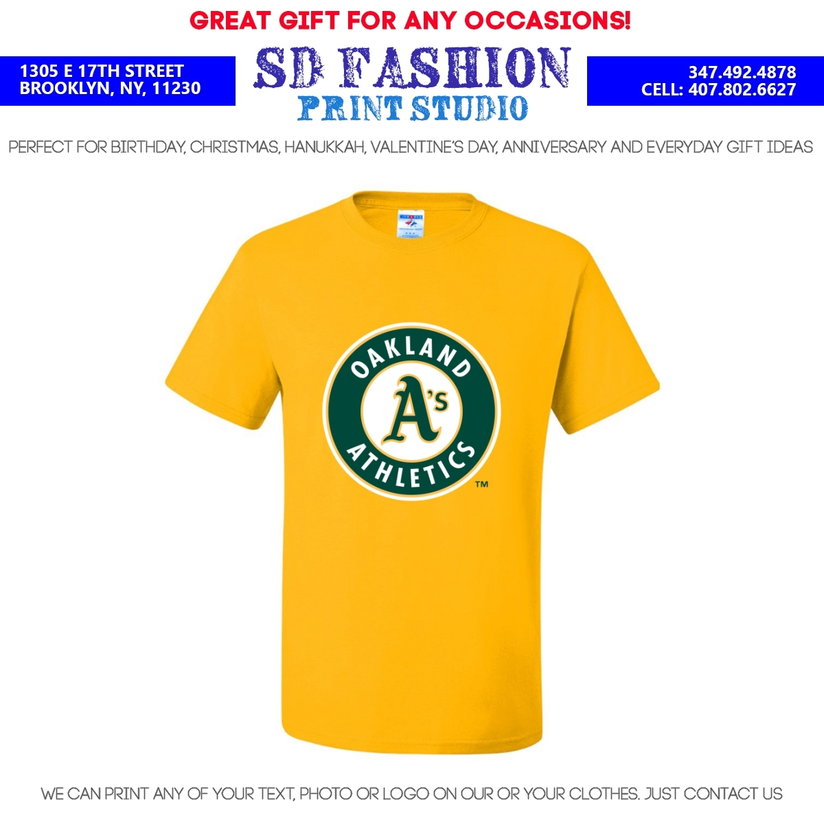 Oakland Athletics T-Shirt / Many colors & sizes / Free ...