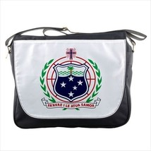Samoa Coat of Arms Messenger Bag - Tabard Surcoat - $36.27